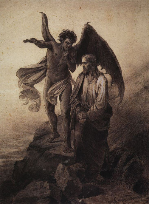 image of the temptation of Christ