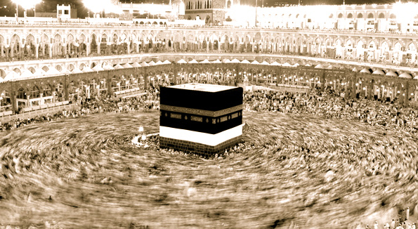 time lapse of pilgrims circumambulating the kaaba